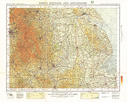 Ordnance Survey of England and Wales (Sheet 6), North Midlands and Lincolnshire